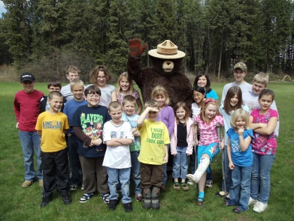 Smokey Bear and class